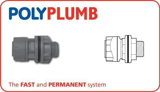 Polyplumb PB3815 15X1/2 Straight Tank Connector
