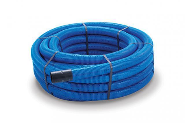 100M Coil Blue Poly Tube 32mm Diameter