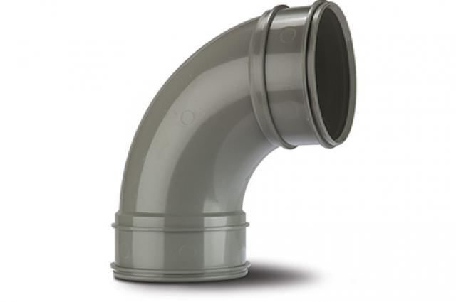 Polypipe SWB22SG Solvent Grey Bend 92.5DG 110mm Soil