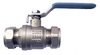 22mm Blue/Red Lever Ball Valve Water