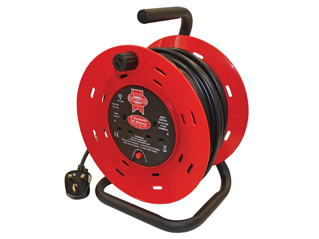Faithfull 240V 25M Cable Reel Ext Lead