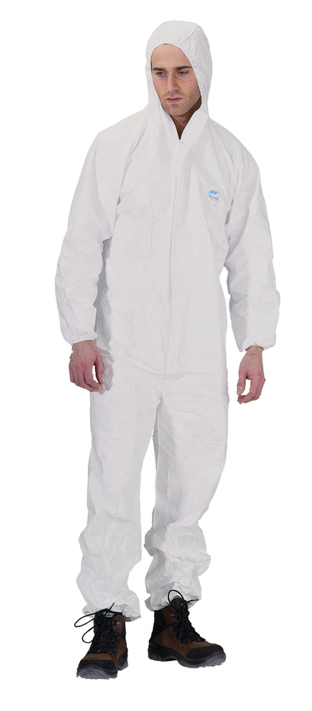 9e45a3fde41 Tyvek Disposable Boiler Suit   Hood Large -Harris   Bailey Ltd