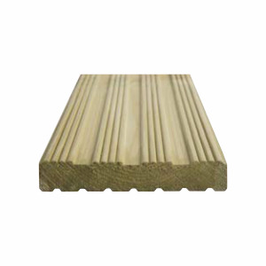 32x150mm Grooved Decking Plain Pefc Per M 4.2