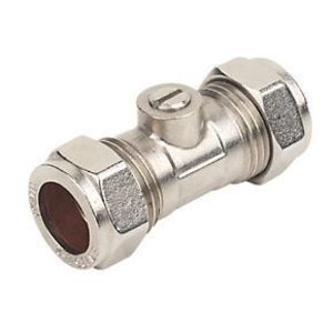 H&B 22mm Chrome Plate Copper TO Copper Ballflow Valve