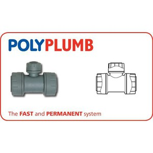 Polyplumb PB1128 28x28x22mm Reducer Branch Tee