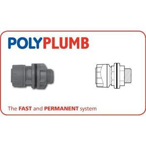 Polyplumb PB3822 22X3/4 Straight Tank Connector