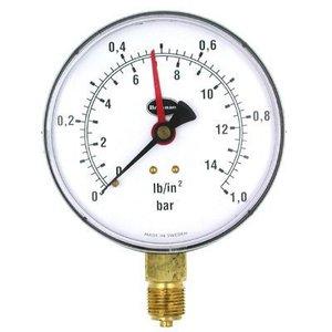 Brannan 34654 100mm 6B/90PSI Pressure Gauge