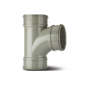 Polypipe SWT29SG Solvent Grey Branch Triple Socket 92DG 110mm Soil