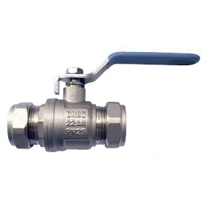 35mm Blue/Red Lever Ball Valve Water
