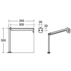 Cleaner Sink Legs & Bearers Pair S9233MY S/S